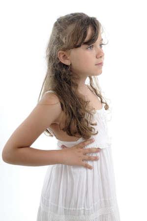 profile of white girl Stock Photo - 9739420