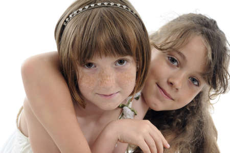 freckled: smiling children posing in studio
