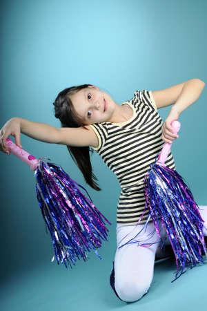 porrista: chica animadora ejercer movimientos