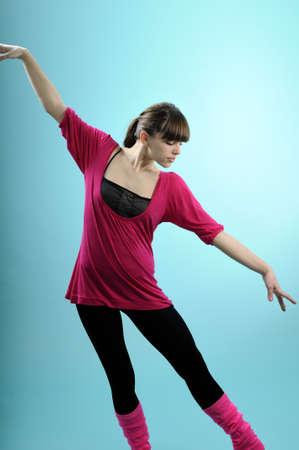 beautiful ballerina exercising