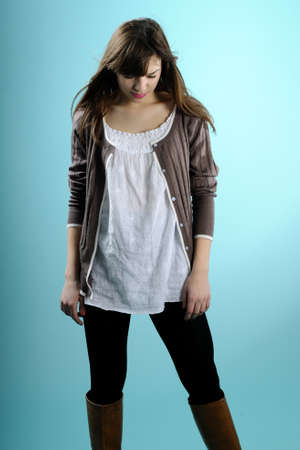 saluting: girl posing for fashion industry