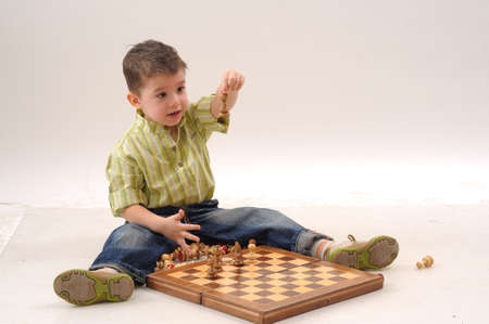 boy winning at chess