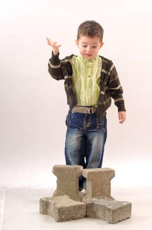 little business man: little business man explaining Foto de archivo