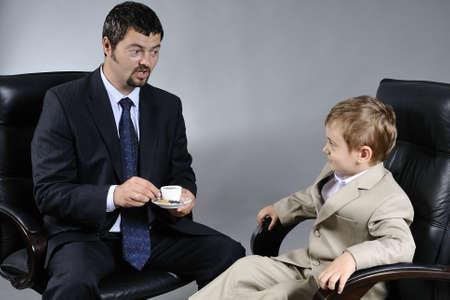 white business man having negotiation