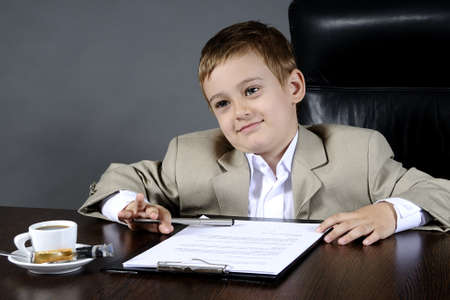 young business man working in office photo
