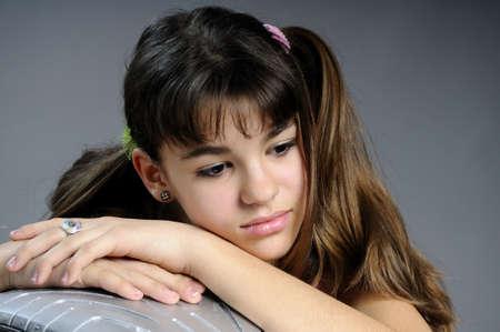 pretty adolescent portrait
