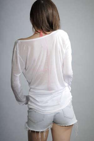 blusa: parte posterior del modelo sexy