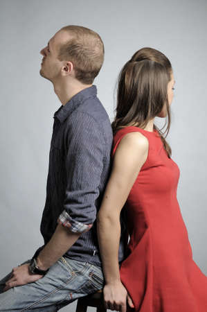 young couple having conflict photo