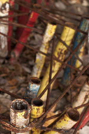 colored rusted pipes photo