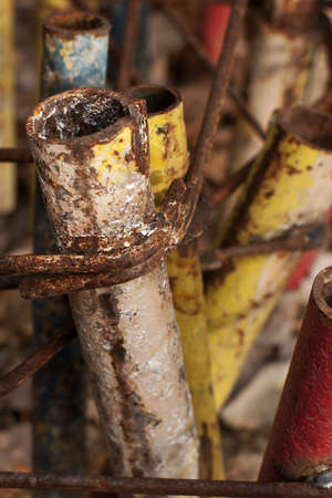 corroded: detail of corroded pipes Stock Photo