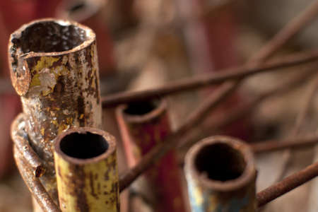 close-up with rusted pipes Stock Photo - 11844075