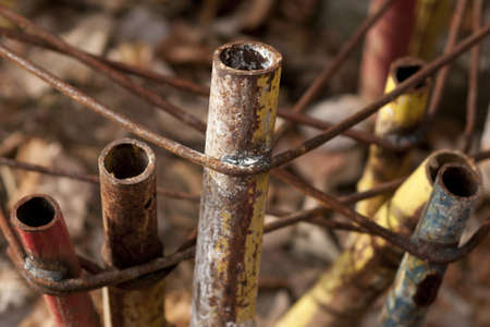 rusted tubes for industry photo