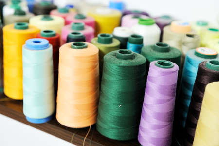 the textile industry: sewing spool for textile industry