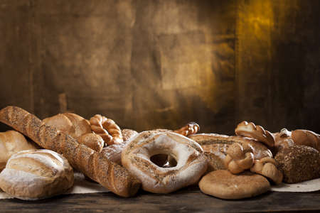 jewish cuisine: french baguette and bread Stock Photo