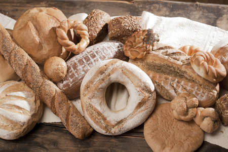 jewish cuisine: traditional baked products Stock Photo