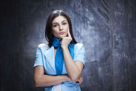 evaluating: business woman analyzing