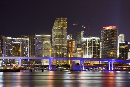 City of Miami Florida at night
