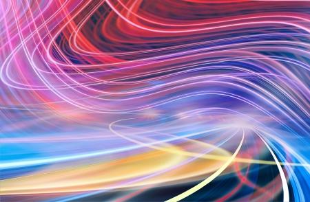light speed: Velocidad de movimiento abstracto en el t?nel urbano autopista carretera