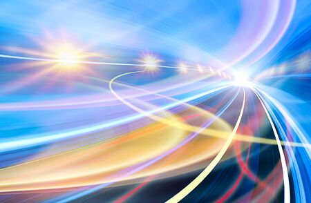 Abstract speed motion in urban highway road tunnel Stock Photo - 16429249