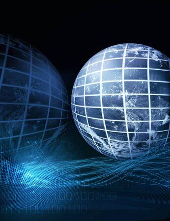 Résumé illustration bleu pour la technologie des communications mondiales Banque d'images - 16429297