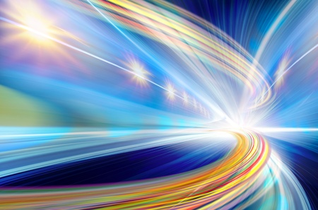 Abstract Speed motion in highway road tunnel Stock Photo
