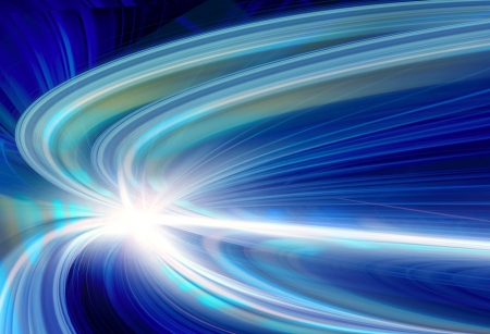 optical fiber: Abstract Speed motion in highway road tunnel Stock Photo