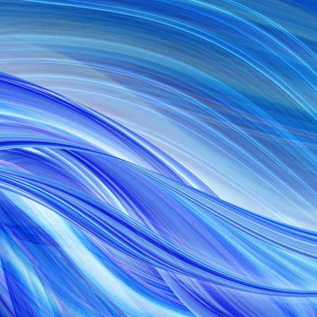 Abstracte technologieachtergrond van blauwe gebogen vormen in dynamische motie. Computer gegenereerde afbeelding. Stockfoto