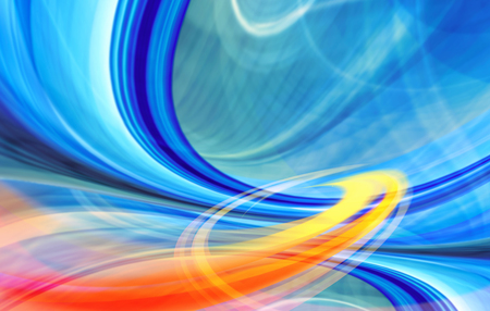 Abstract technology background of colorful curved shapes in dynamic speed motion  Computer generated illustration  illustration