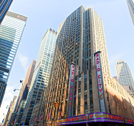 NEW YORK CITY - MAY 29: Radio City Music Hall at Rockefeller Center May 29, 2013 in New York, NY. Completed in 1932, the famous music hall was declared a city landmark in 1978