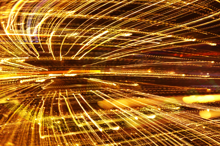 Abstract speed technology background, fiber optics, fast moving ight trails,