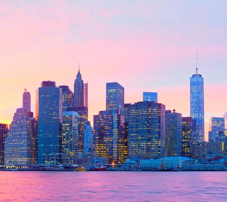 sunset city: New York CIty, Manhattan at sunset