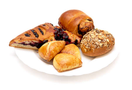 collation: Assorted pastries and pies with filling  Stock Photo