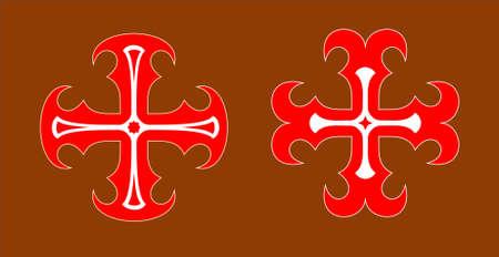 sacrifice: Stylized christian cross. Illustration isolated on background