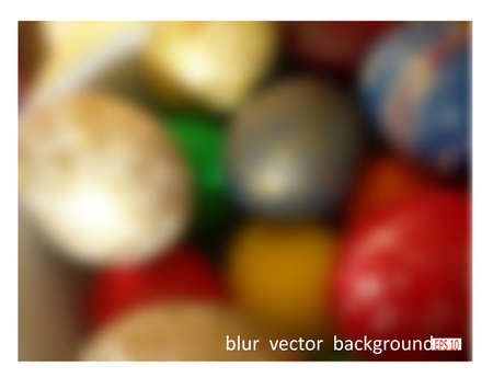 paskha: Colorful Easter eggs. Blur vector background