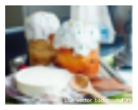 paskha: Easter. Blur vector background