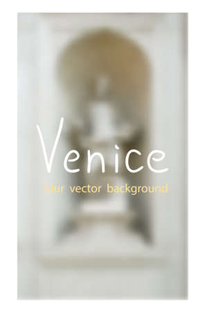 venezia: Venetian outdoor sculpture. Venetian blur background.