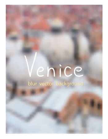 basilica: Top view of the Basilica San-Marco in Venice. Venetian blur background. Illustration