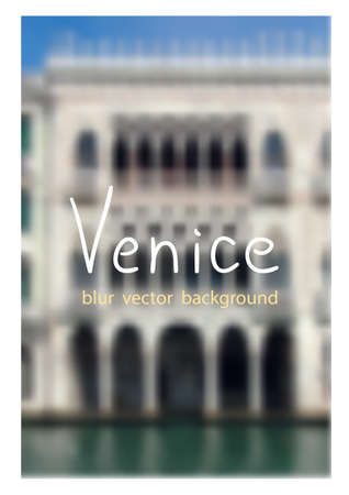 fon: View of the Palace from the Grand canal. Venetian blur background.