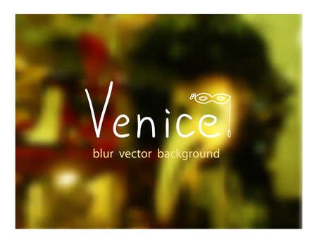 venetian: Venetian carnival masks. Venice blur background.