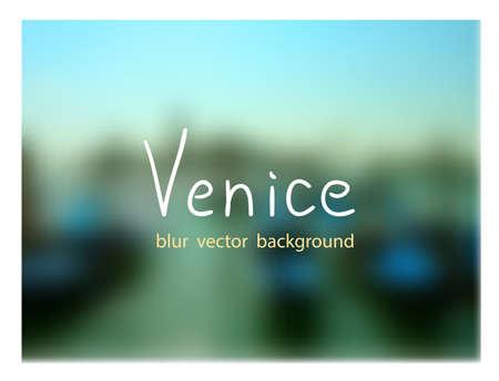 marco: Gondolas on the dock at San Marco square. Venetian blur background. Illustration