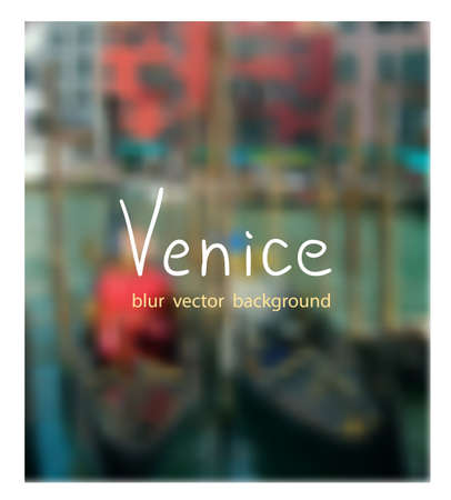 fon: Gondolas at the dock. Venetian blur background.