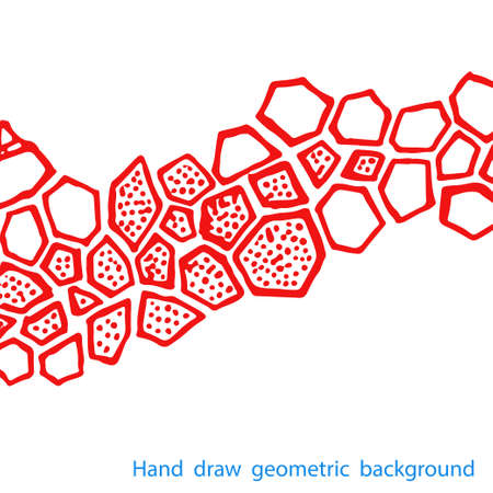 fon: Hand draw geometric pattern on white background