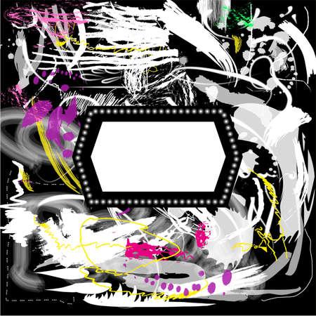 Grunge background artistique avec cadre Banque d'images - 39296922