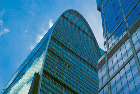 New majestic buildings modern business center Moscow-city. Business centre Empire. Russia, Moscow