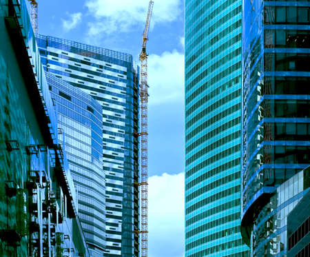 New majestic buildings modern business center Moscow-city. Russia, Moscow Stock Photo