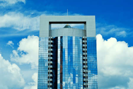 New majestic buildings modern business center Moscow-city. Business-centre North tower. Russia, Moscow