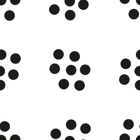 rounds: Monochrome seamless pattern with rounds