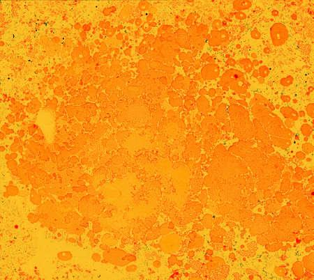スポットやオレンジ色と黄色の色の油絵の具の汚れから風光明媚な背景 写真素材