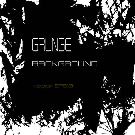 wreckage: Grunge vector background with shards and wreckage, monochrome, black and white