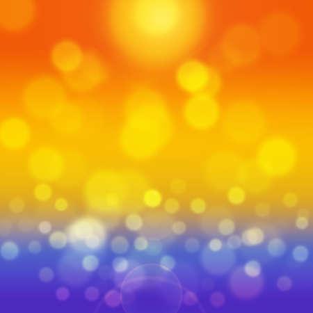 glisten: Summer background with yellow bokeh. Sea and sand glisten in sun